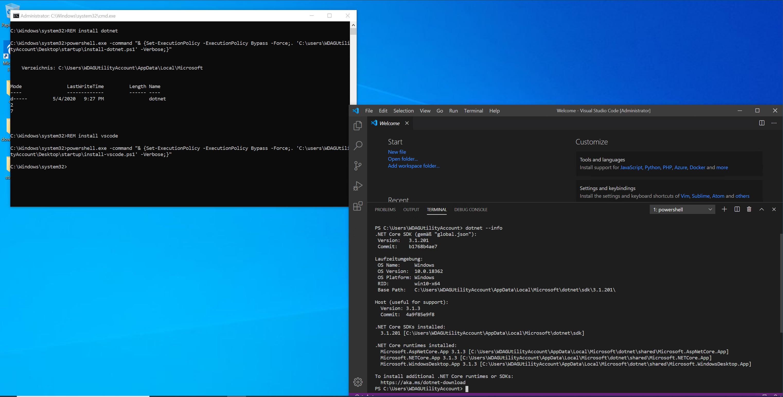 Beispiel für VsCode und .NET